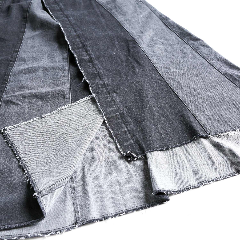 デニムラップスカート