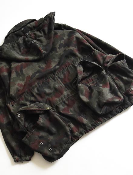 スイス軍迷彩ジャケット military camo jacket overdye black