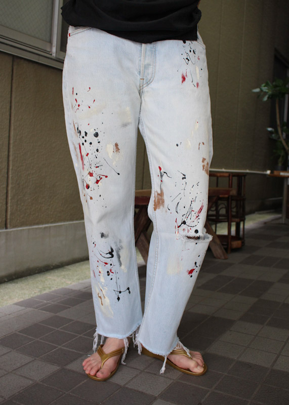クラッシュ&ペイントデニム crush & paint denim