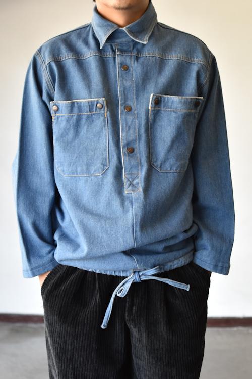 プルオーバーデニムジャケット pullover denim jacket