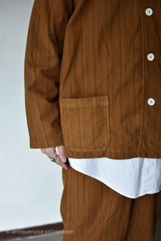 MILITARYパジャマセットアップ setup overdye brown