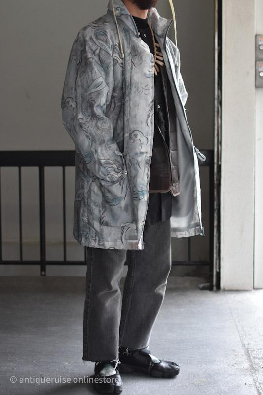 80sプリンテッドコート euro 80s printed coat