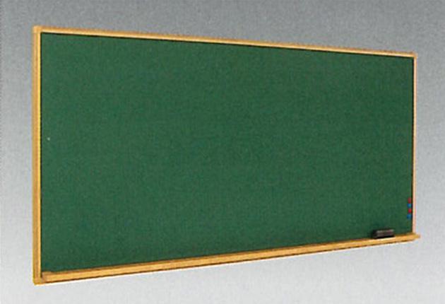 黒板 壁掛けタイプ(W1800×H900)スチール黒板(木調枠)