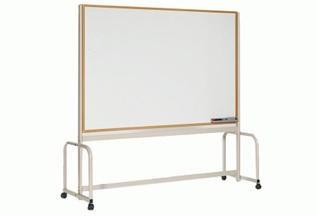 品番:WRLWT-1812 <br> 品名:R脚付タイプ(W1800×H1200)ホーローホワイトボード(木調枠)