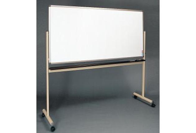 品番:AKWW-1809<br>品名:脚付回転タイプ(W1800×H900)両面ホーローホワイトボード(アルミ枠)