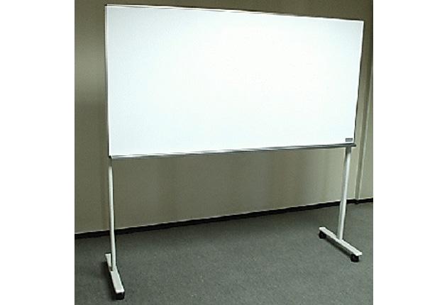 脚付片面タイプ(W1200×H900)ホーローホワイトボード(アルミ枠)