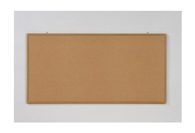 壁掛けタイプ(W1200×H900)ニューコルク掲示板(木調枠)