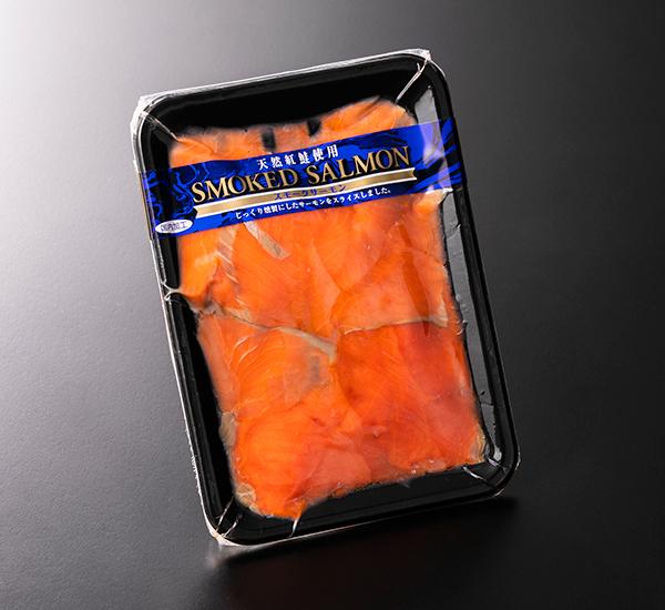 紅鮭燻製切落し100g  ※5パック以上からご注文可能