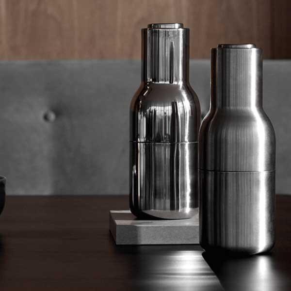 MENU ボトルグラインダー ステンレスミラー ステンレストップ 2個セット