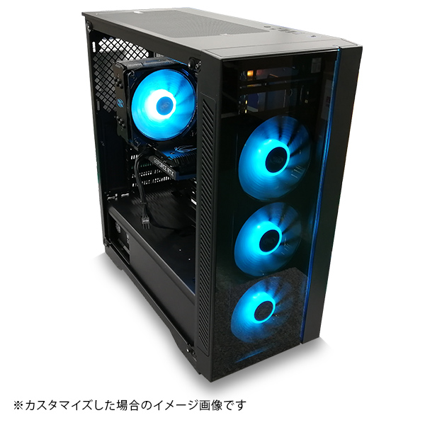 (Core i7-10700/メモリ:DDR4 8GB(8GBx1)/SSD:240GB/HDD:-/電源:650W 80PLUS BRONZE/グラボ:-) Barikata-337507  カスタマイズ可能 BTOパソコン Barikata 55V3