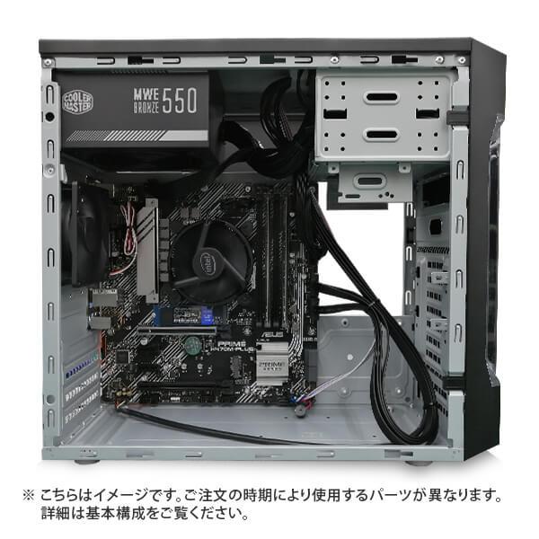 (Core i9-10900/メモリ:DDR4 8GB(8GBx1)/SSD:250GB NVMe/HDD:-/電源:500W 80PLUS BRONZE/グラボ:-) Barikata-341109  カスタマイズ可能 BTOパソコン Barikata EN067