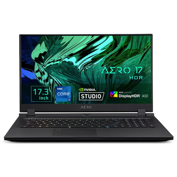 17.3インチ 4K / Core i7 11800H / RTX 3080 / メモリ 32GB / SSD 1.5TB / Win10 Pro / GIGABYTE ギガバイト ゲーミングノートパソコン AERO 17 HDR YD-73JP548SP