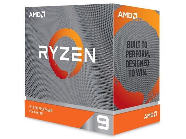 CPU AMD エーエムディー Ryzen 9 3900XT BOX クロック周波数 3.8GHz ソケット形状 Socket AM4 二次キャッシュ 6MB [RYZEN93900XTBOX]