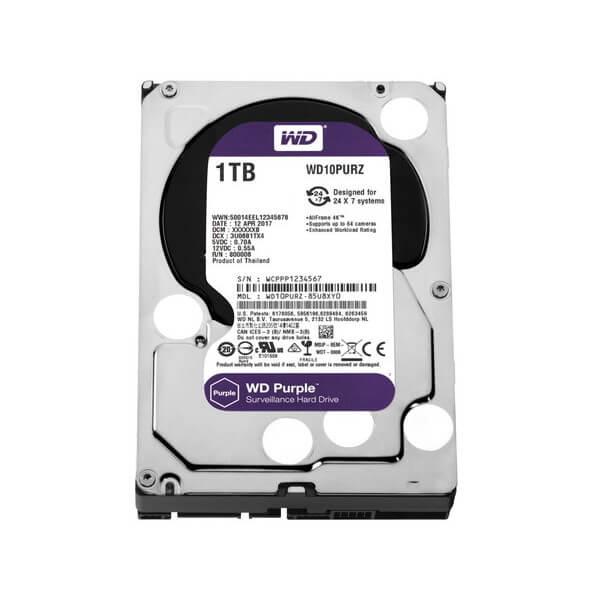 ハードディスク・HDD 3.5インチ WESTERN DIGITAL ウエスタンデジタル WD10PURZ 容量:1TB 回転数:5400rpm キャッシュ:64MB インターフェイス:Serial ATA600