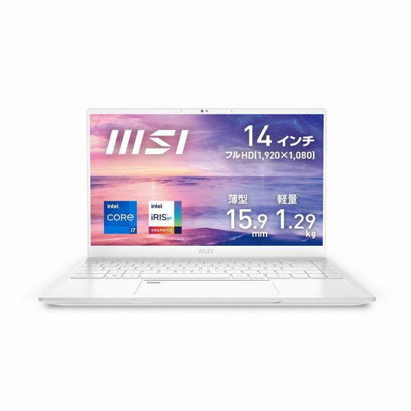 14 インチ / Core i7 1185G7 / メモリ 16GB / SSD 512GB / Win10 Home / ビジネスクリエイターノートパソコン MSI エムエスアイ Prestige-14Evo-A11M-785JP