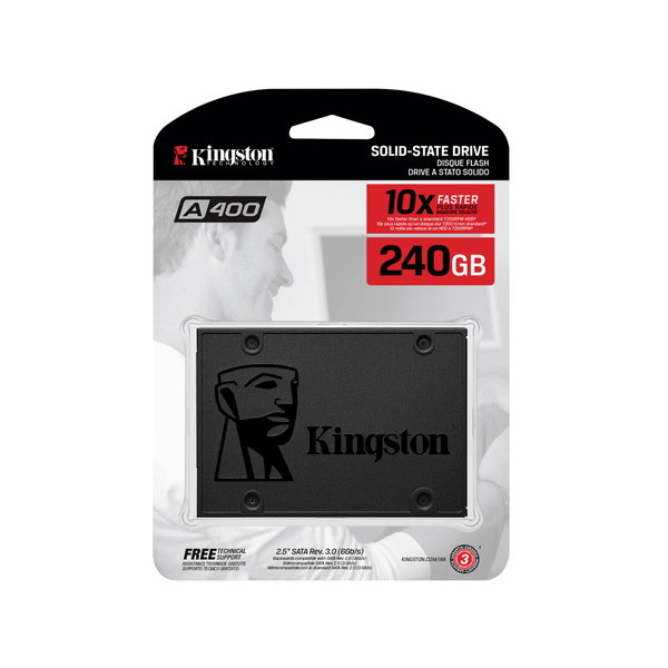 SSD キングストン(Kingston) A400 SSD SA400S37/480G (容量:480GB 規格サイズ:2.5インチ インターフェイス:Serial ATA 6Gb/s タイプ:TLC)