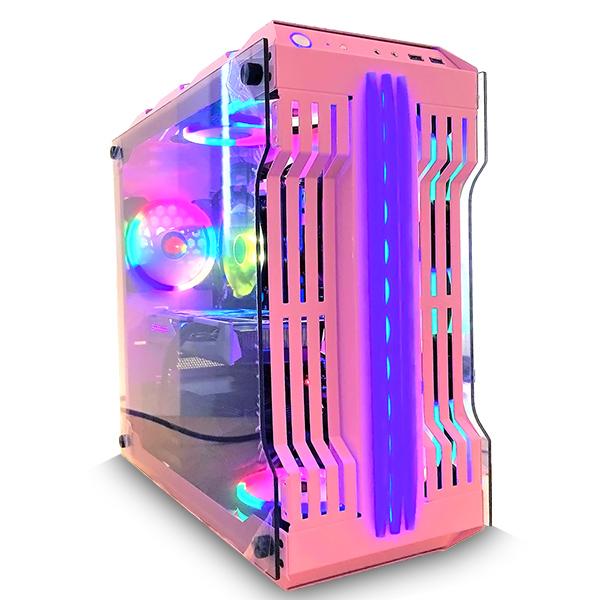 【WAR BEASTシリーズ!!】(Ryzen5 5600X/メモリ:DDR4 16GB ARGB/SSD:500GB NVMe/HDD:-/電源:750W 80PLUS GOLD/グラボ:RTX3060) SUNSHINE BG-R55600XAS1N512MNVM ゲーミングPC ピンク BTOパソコン [無料特典]