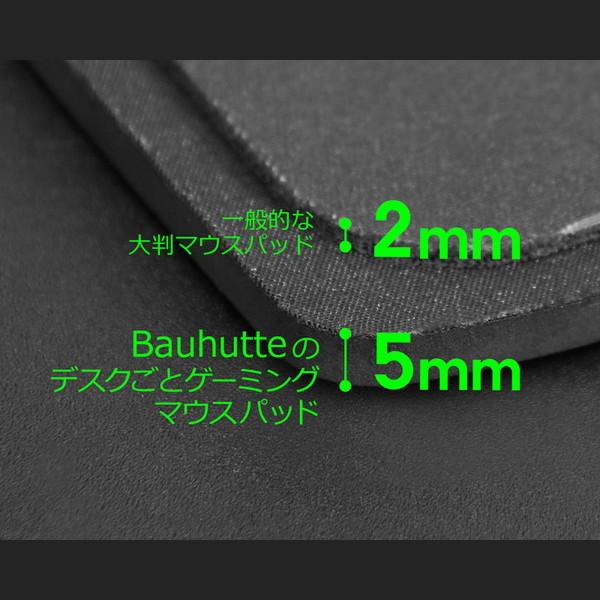 Bauhutte (バウヒュッテ) デスクごとゲーミングマウスパッド ブラック BMP-1200-BK お取り寄せ ※メーカー在庫潤沢
