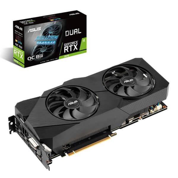 グラフィックボード ASUS エイスース DUAL-RTX2070-O8G-EVO NVIDIA/GeForce PCIExp 3.0 DVIx1/HDMIx2/DisplayPortx2 GDDR6/8GB