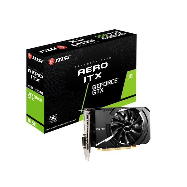 グラフィックボード ビデオカード MSI エムエスアイ GeForce GTX 1650 D6 AERO ITX J OC [GTX1650D6AEROITXJOC]