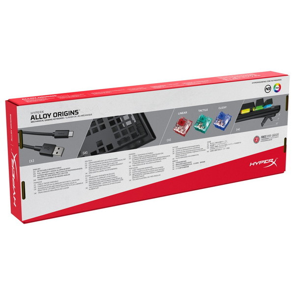 HyperX ゲーミングキーボード HX-KB6RDX-JP お取り寄せ