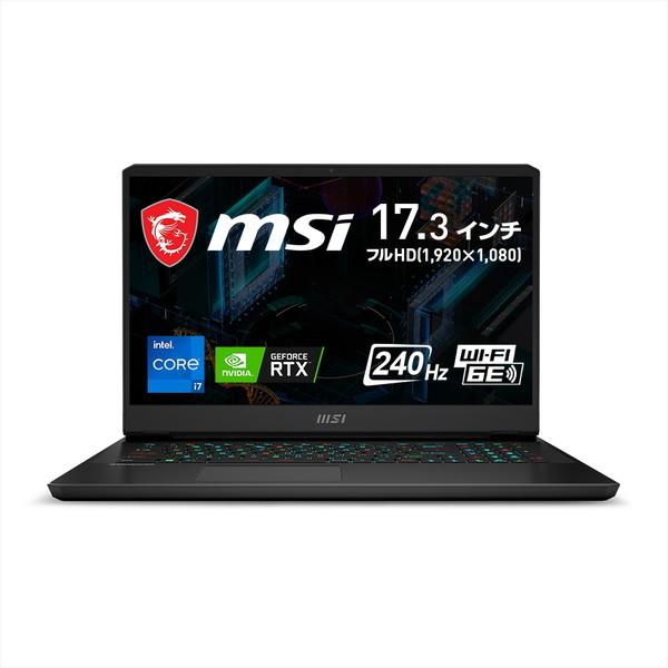 17.3インチ / Core i7-11800H / RTX 3070 / メモリ 16GB SSD 1TB / Win10 Home / リフレッシュレート240Hz MSI エムエスアイ ゲーミングノートパソコン GP76-11UG-322JP
