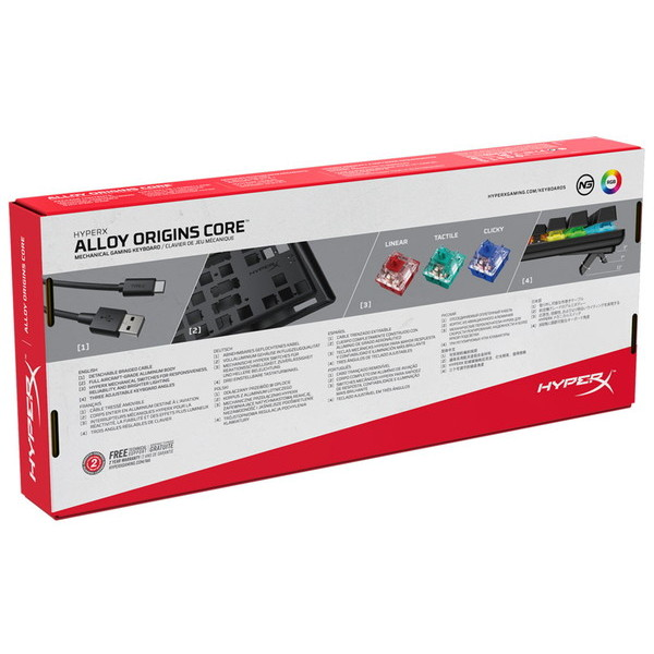 HyperX ゲーミングキーボード HX-KB7RDX-JP お取り寄せ