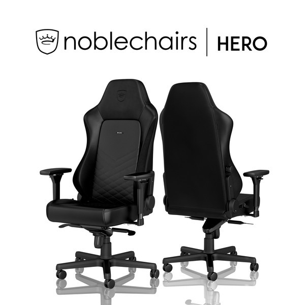 noblechairs ゲーミングチェア NBL-HRO-PU-BLA-SGL【代引・日時指定・キャンセル不可・北海道沖縄離島配送不可】 -お取り寄せ品-