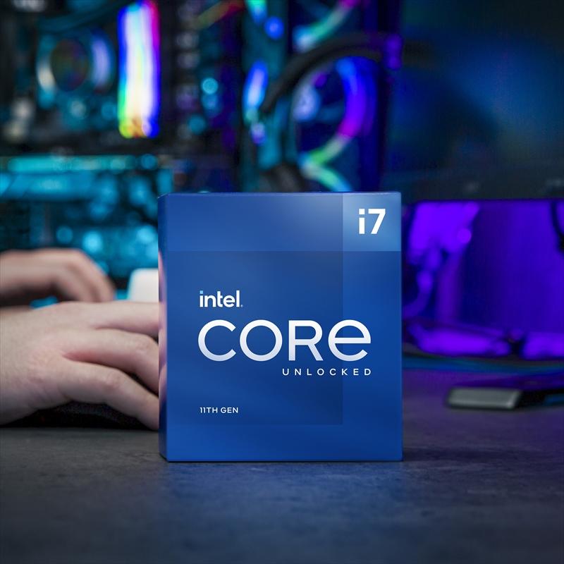 CPU インテル11th intel Core i7 11700K BOX RocketLake-S クロック周波数 3.6GHz ソケット形状 LGA1200 [BX8070811700K]