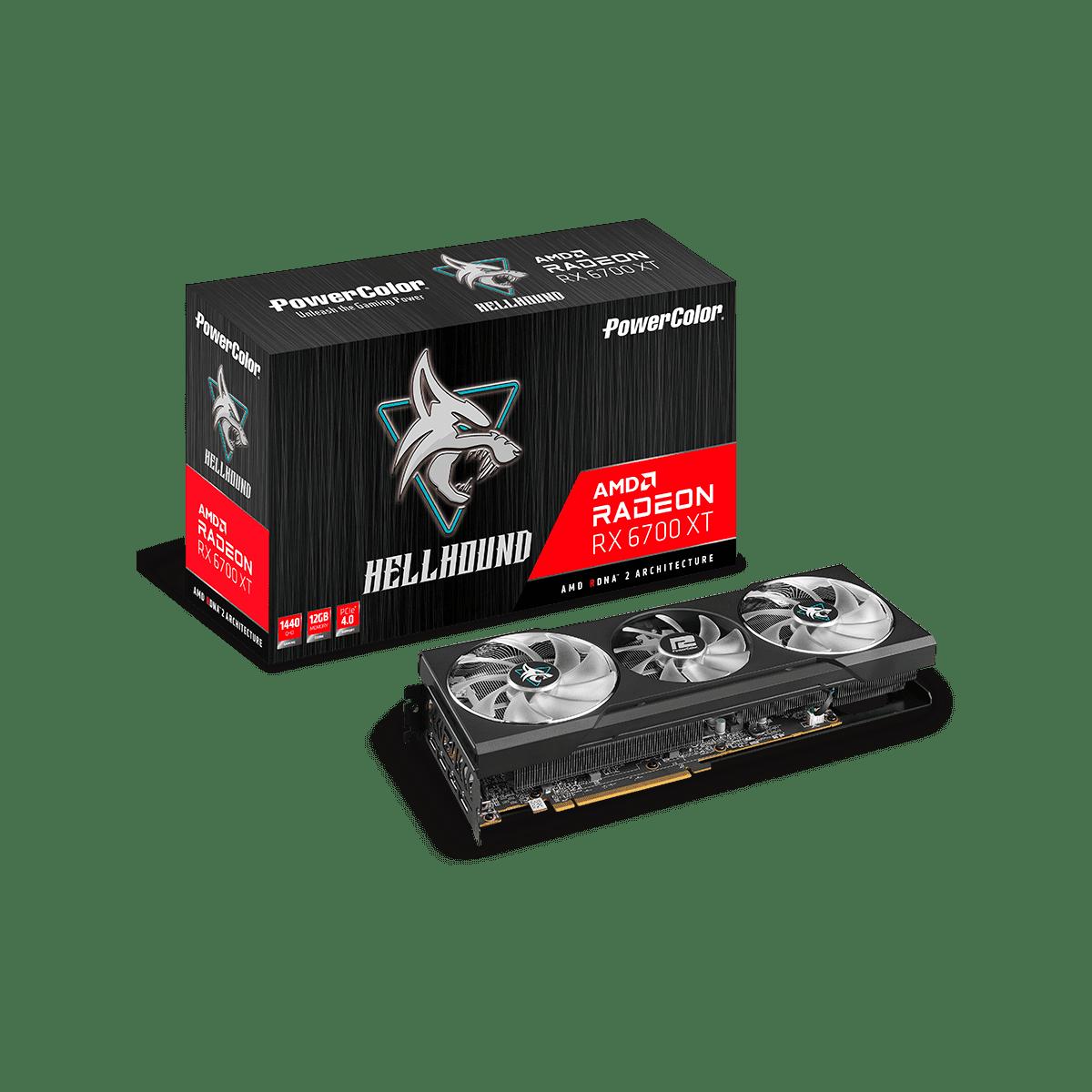 グラフィックボード・ビデオカード POWERCOLOR Radeon RX 6700 XT  AMD AXRX 6700XT 12GBD6-3DHL [AXRX6700XT12GBD63DHL]