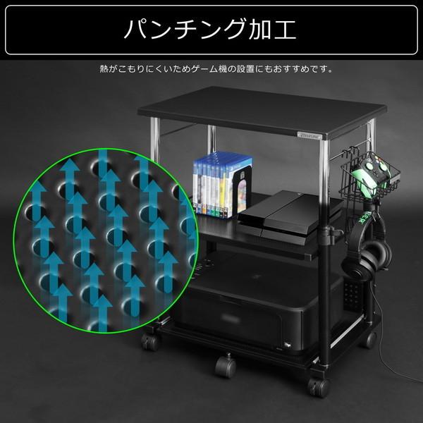 Bauhutte (バウヒュッテ) 昇降式プリンター台 ブラック BHS-600P-BK お取り寄せ ※メーカー在庫潤沢