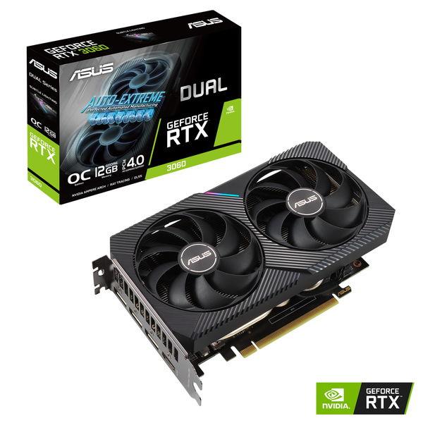 グラフィックボード ASUS DUAL-RTX3060-O12G NVIDIA GeForce RTX 3060 [DUALRTX3060O12G]
