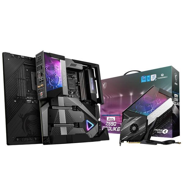 マザーボード MSI MEG Z590 GODLIKE E-ATX Z590チップ搭載 intel第11世代対応 [MEGZ590GODLIKE]