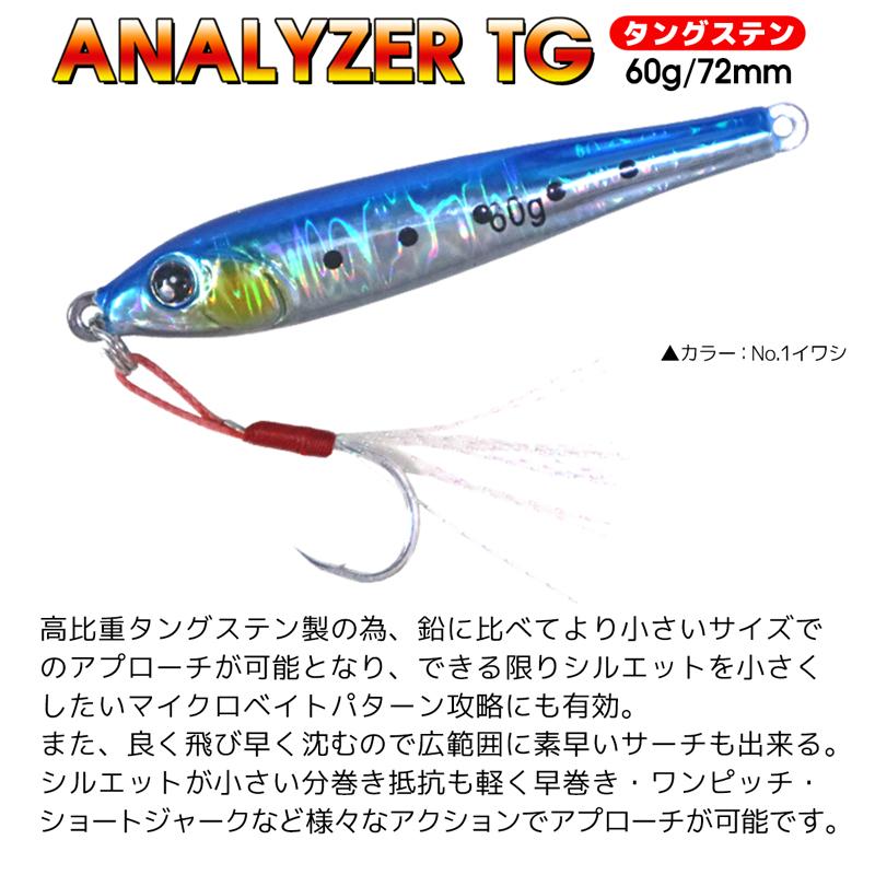 アナライザーTG タングステン KG-327 60g 72mm ルアー メタルジグ 釣り具