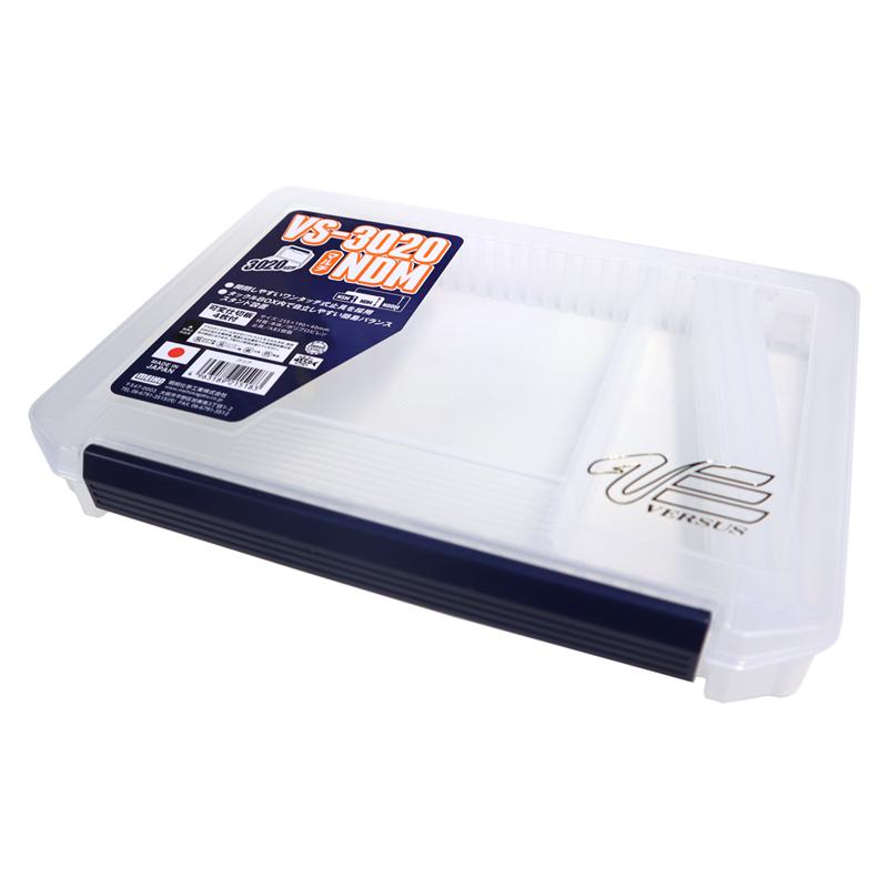 VS-3020NDM マルチケース クリア 可変仕切板4枚付 255×190×40mm 明邦化学 VERSUS ルアーケース ツールケース 釣り具
