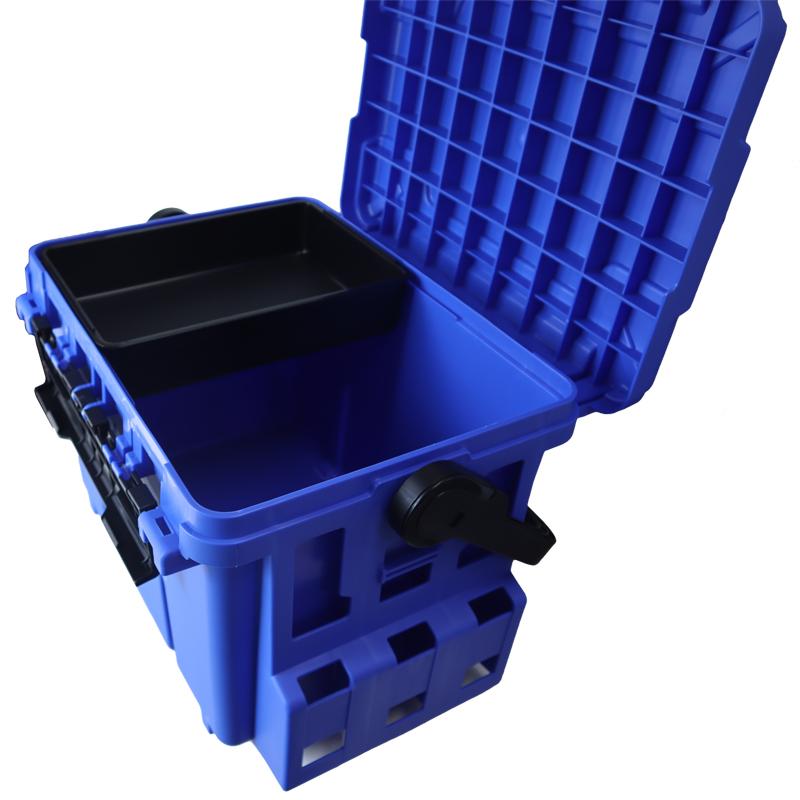 バケットマウス BM-7000 ブルー 明邦化学工業 475×335×320mm 28L 釣り用収納ハードボックス タックルボックス フィッシング