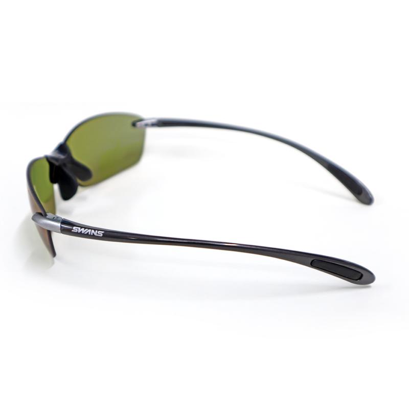 エアレスリーフ フィット GMR SALF-0168 偏光ULライトグリーン 専用ケース+クリーナー+メガネ拭き付属 SWANS 送料込み