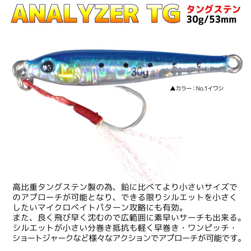 アナライザーTG タングステン KG-325 30g 53mm ルアー メタルジグ 釣り具