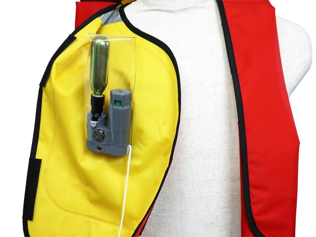 自動膨張式ライフジャケット 肩掛式 作業用救命衣 NS-7000型 小型船舶救命胴衣兼用 日本船具 国交省認定品 タイプA 検定品 桜マーク付 取り寄せ商品3〜6営業日内に発送