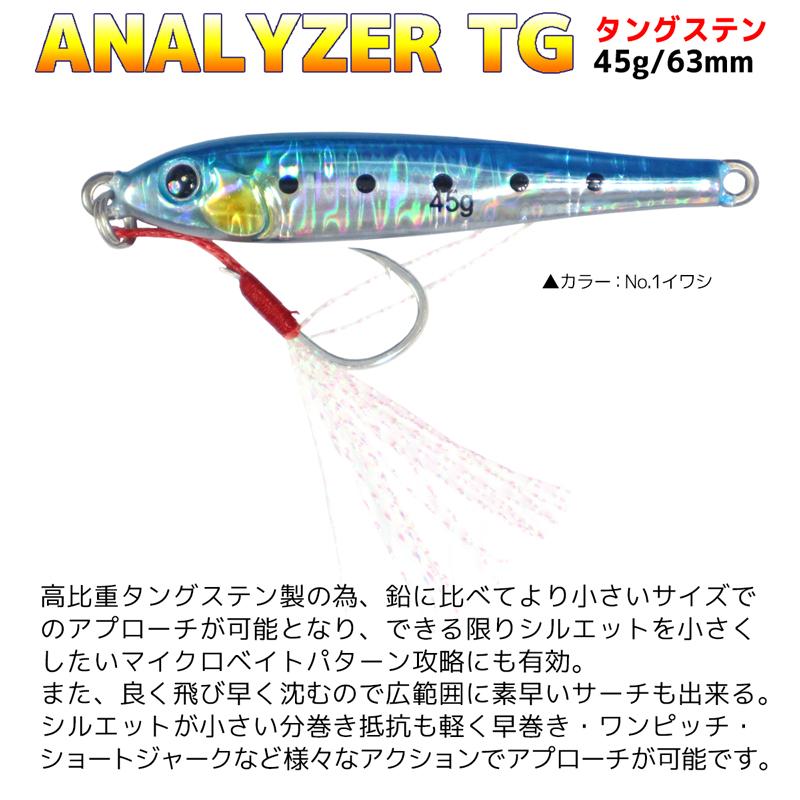 アナライザーTG タングステン KG-326 45g 63mm ルアー メタルジグ 釣り具