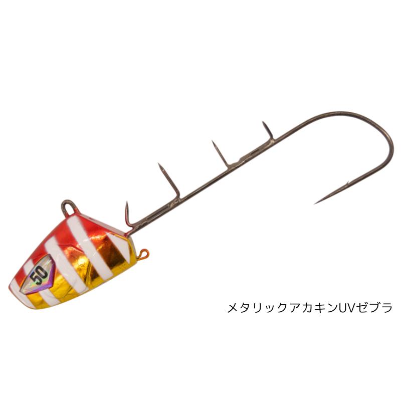 船太刀魚テンヤ 50号 速掛型 喰い渋りスペシャル SW413 フロロリーダー8号1.2m・エサ巻きワイヤー2本付 ハヤブサ 釣り