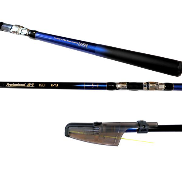 カーボンロッド プロフェッショナル K-1磯 V3 1.2号 450 5本継 ISO GEAR 宇崎日新(NISSIN) 釣竿 釣り具