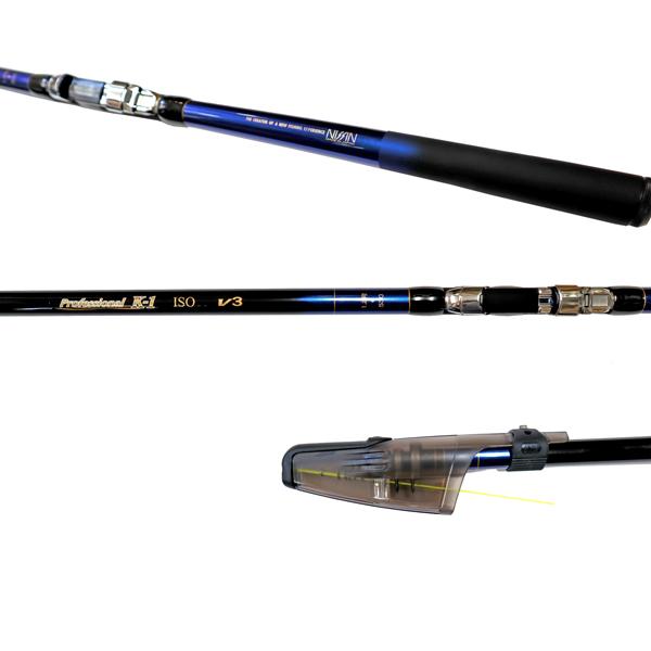 カーボンロッド プロフェッショナル K-1磯 V3 1.2号 530 6本継 ISO GEAR 宇崎日新(NISSIN) 釣竿 釣り具