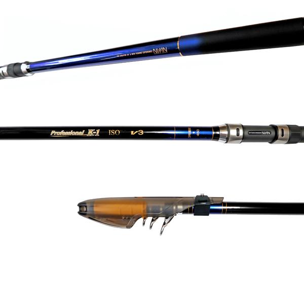 カーボンロッド プロフェッショナル K-1磯 V3 3号遠投 450 5本継 ISO GEAR 宇崎日新(NISSIN) 釣竿 釣り具