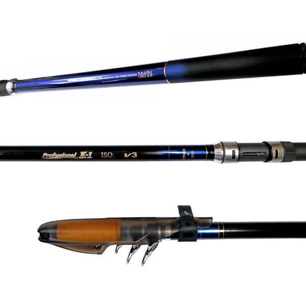 カーボンロッド プロフェッショナル K-1磯 V3 3号遠投 530 6本継 ISO GEAR 宇崎日新(NISSIN) 釣竿 釣り具