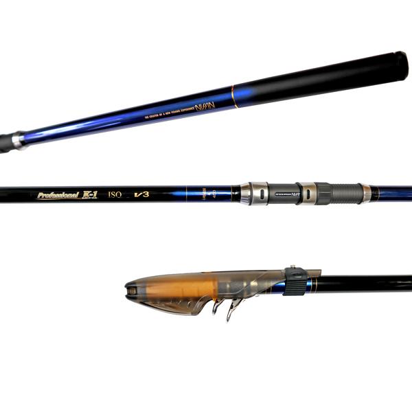 カーボンロッド プロフェッショナル K-1磯 V3 4号遠投 450 5本継 ISO GEAR 宇崎日新(NISSIN) 釣竿 釣り具