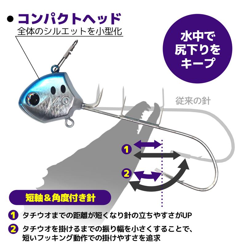 サーベルマスター 船テンヤβ(ベータ) 40号 PN-WQ1U コンパクトヘッド ナイロンリーダー+餌巻きワイヤー付き SHIMANO