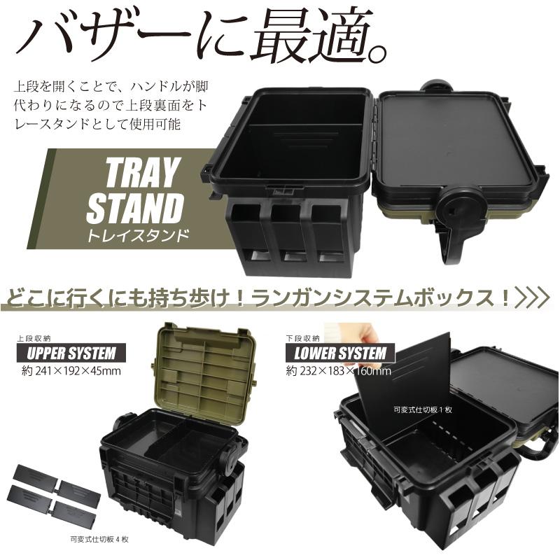 ランガンシステムボックス VS-7055N グリーンツートン 313×233×231 明邦化学工業 MEIHO 釣り具