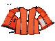 作業用救命衣 小型船舶兼用タイプ FW-3 国交省認定品 タイプA 検定品 桜マーク付 東洋物産 取り寄せ商品 2〜5営業日内に発送