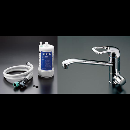 TOTO ビルトイン形浄水器セット TKG38-1S[水栓]+TK302B2[浄水器本体] 東陶